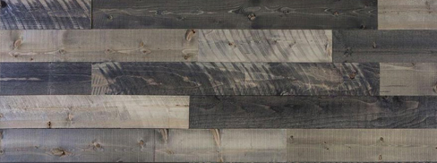 "AWIAB-GREY Coeur d'Alene Xcelerated Wood 14 Piece Box - Reclaimed Lumber 25 SQFT Coverage Light, Medium, & Dark Grey 3/8"" x 5-7/16"" x 48"""