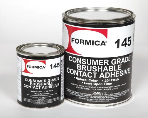 F-145-QT FORMICA 145 QUARTS UN1133 PG II ADHESIVE TYPE 3 PROBLEMS? CHEMTREC 800-424-9300
