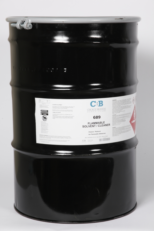 689-55 FLAMMABLE SOLVENT/REDUCER 55-GAL D DRUM UN1133 PG II ADHESIVE TYPE 3 PROBLEMS? CHEMTREC 800-424-9300