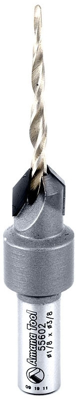 55602 AMANA CARBIDE-TIPPED COUNTERSINK FOR WOOD SCREWS/2-WING REPL BIT: 630-266