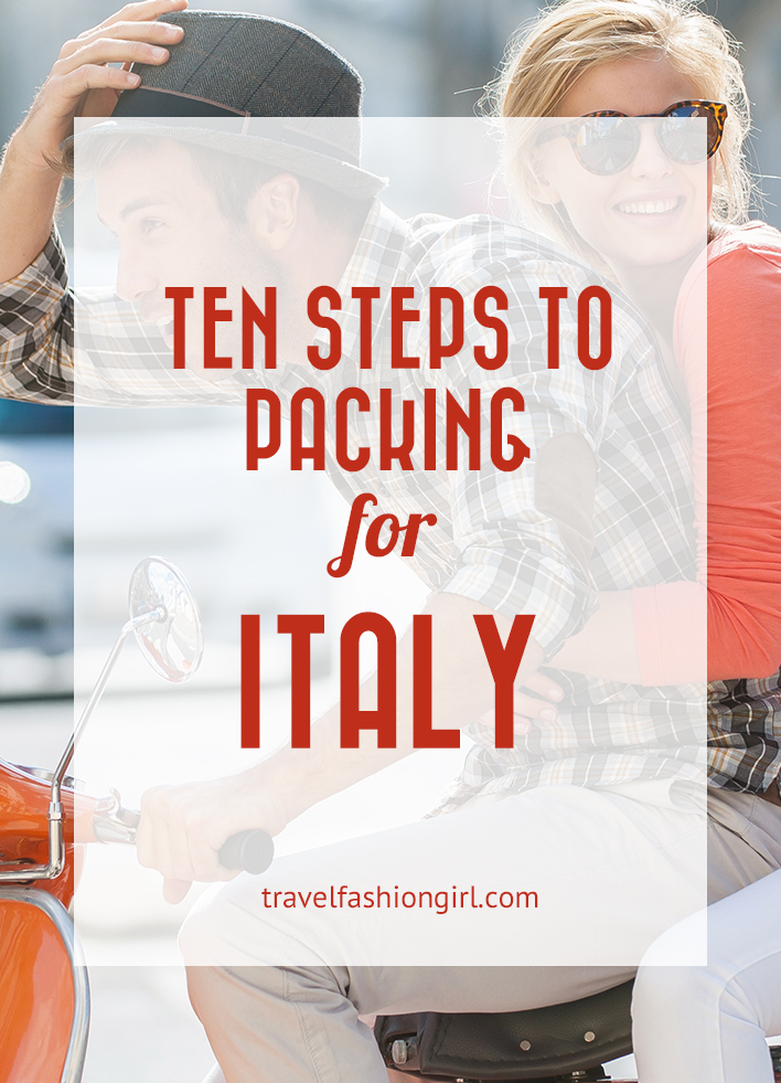 photograph relating to Italian Phrases for Travel Printable identified as 10 Move Packing Lead for Italy
