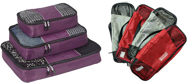 Thanks Giving 3 Set Packing Cubes,2 Various Sizes Travel Luggage Packing Organizers h