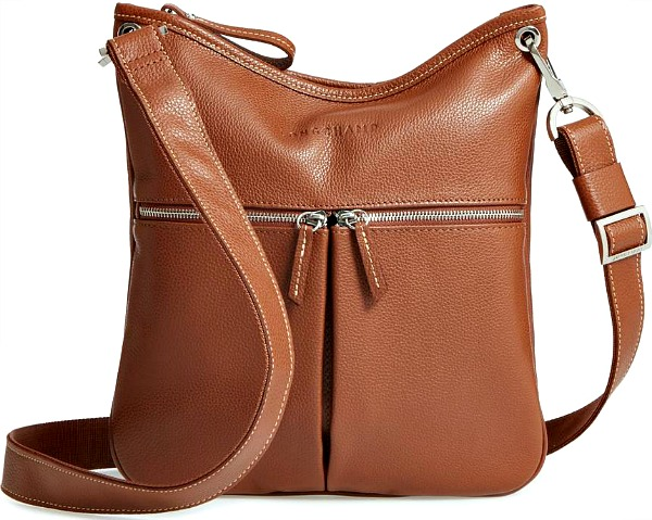 57da5eb05b41 Best-Cross-Body-Purses-for-Easy-Packing · Longchamp Veau Leather Cognac Crossbody  Bag
