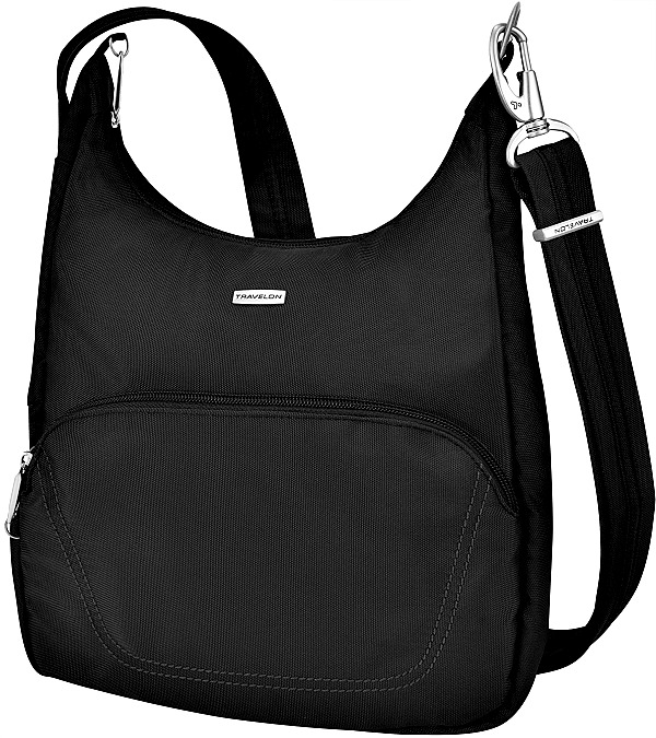 ea7e6d3deeaa Best-Cross-Body-Purses-for-Anti-Theft. Travelon Anti-Theft Black Messenger  Bag