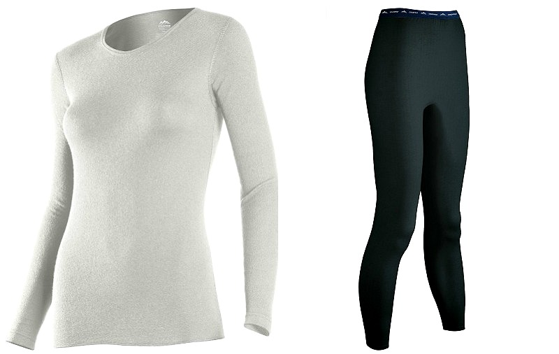 Womens Heavyweight Thermal Set Black Large