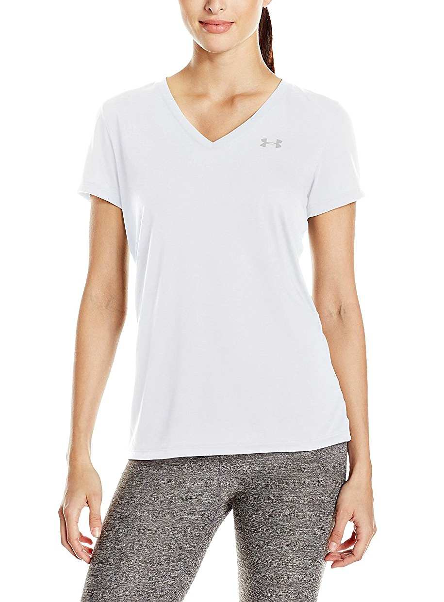 Everlane excels at the basics, and their white tees are no exception. This guy is just the right amount of boxy so the t hangs perfectly over your collarbones and the sleeve comes down a .