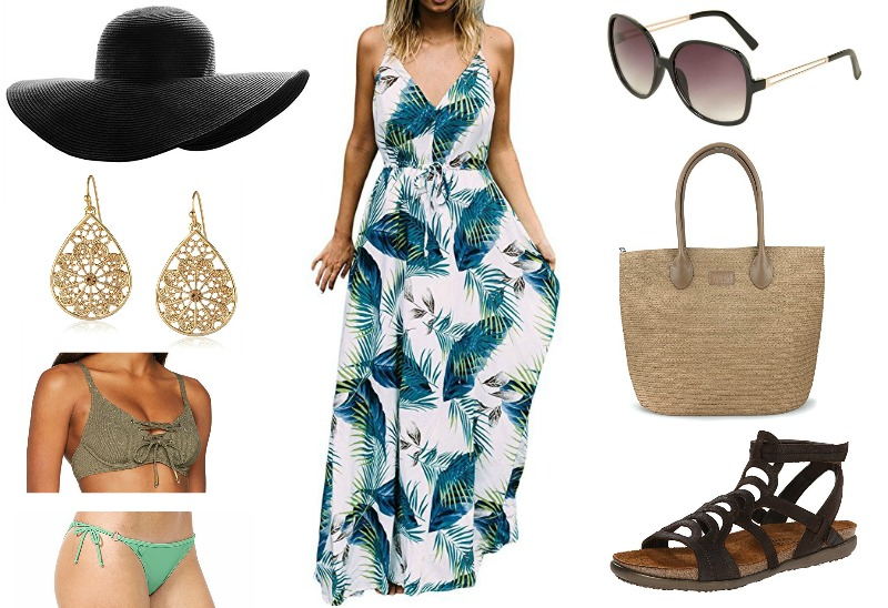 fff43fe74d2 Hat | Dress | Sunglasses | Earrings | Tote | Bikini Top & Bottom | Sandals