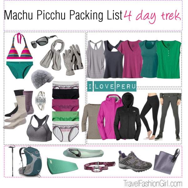 Shop For Inca Trail And Machu Picchu Tours Travel Gear
