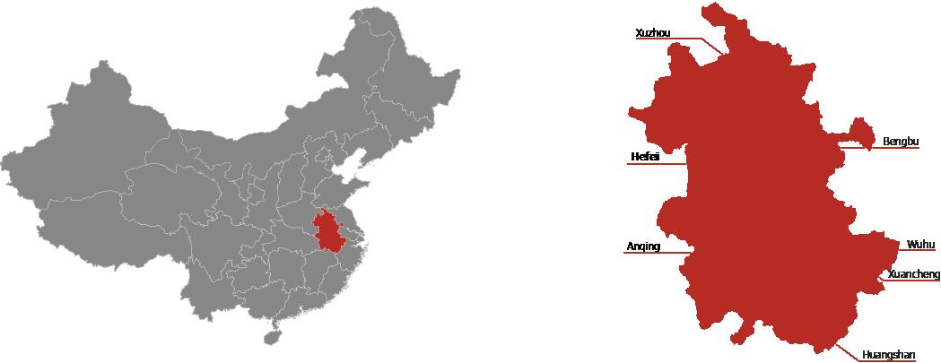 Anhui Province Map