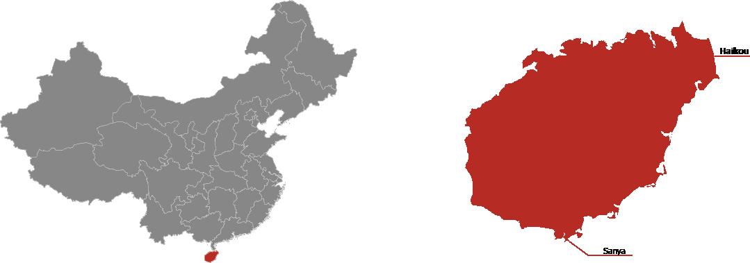 Hainan Province Map