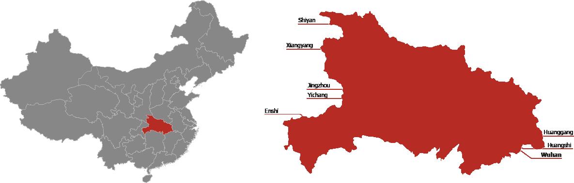 Hubei Province Map