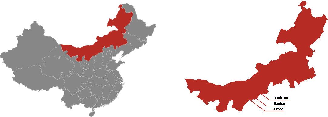 Inner Mongolia Province Map