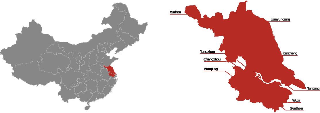 Jiangsu Province Map