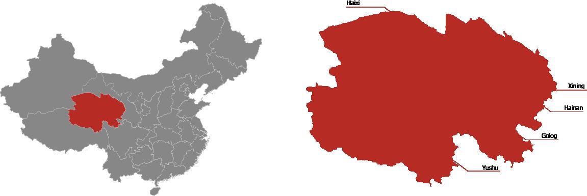 Qinghai Province Map