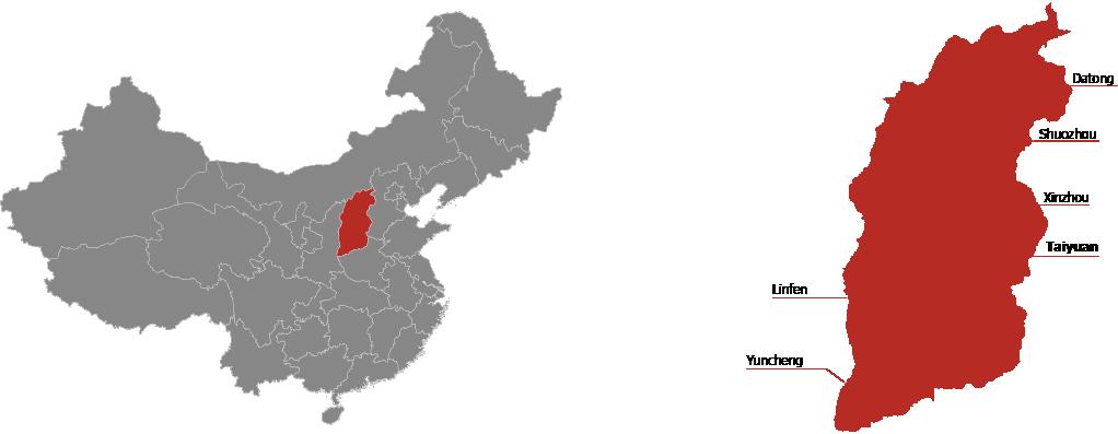 Shanxi Province Map