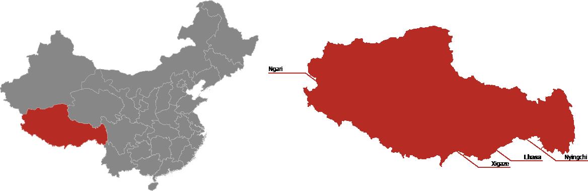 Tibet Province Map