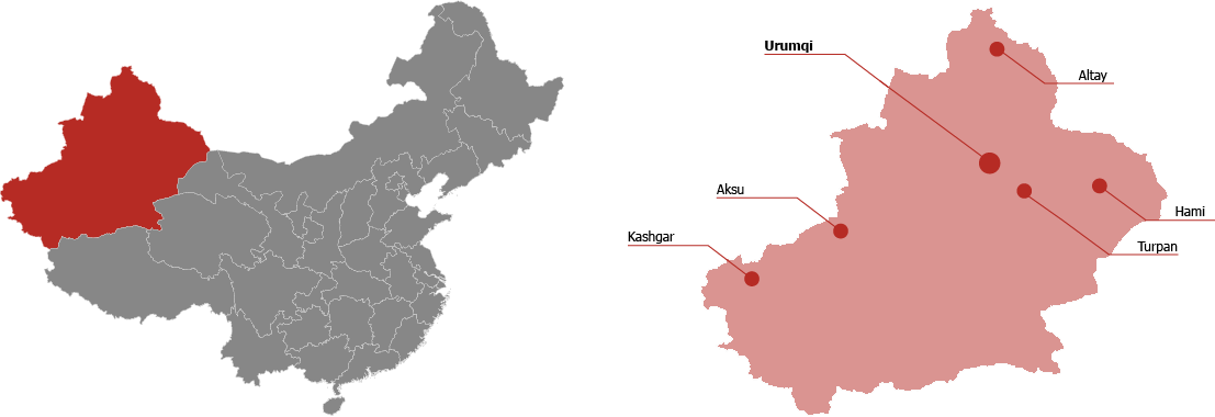 Xinjiang Province Map
