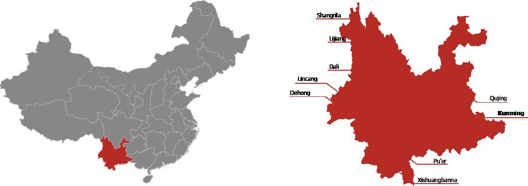 Yunnan Province Map