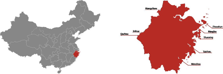 Zhejiang Province Map