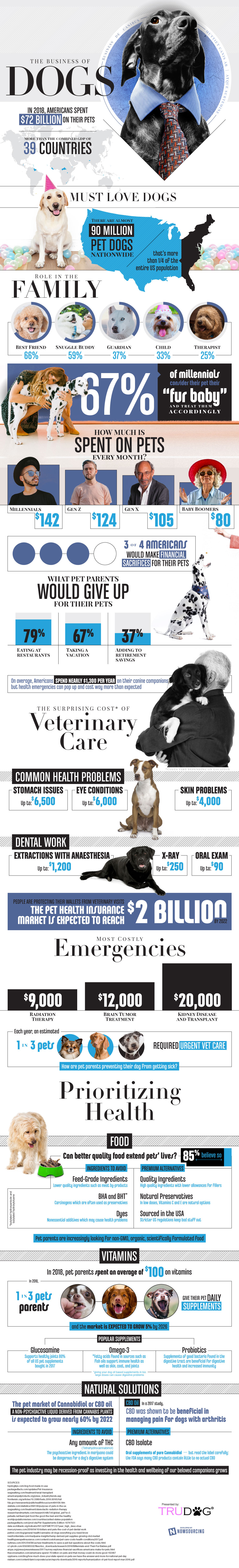 The Business Of Dogs Infographic Health Nu