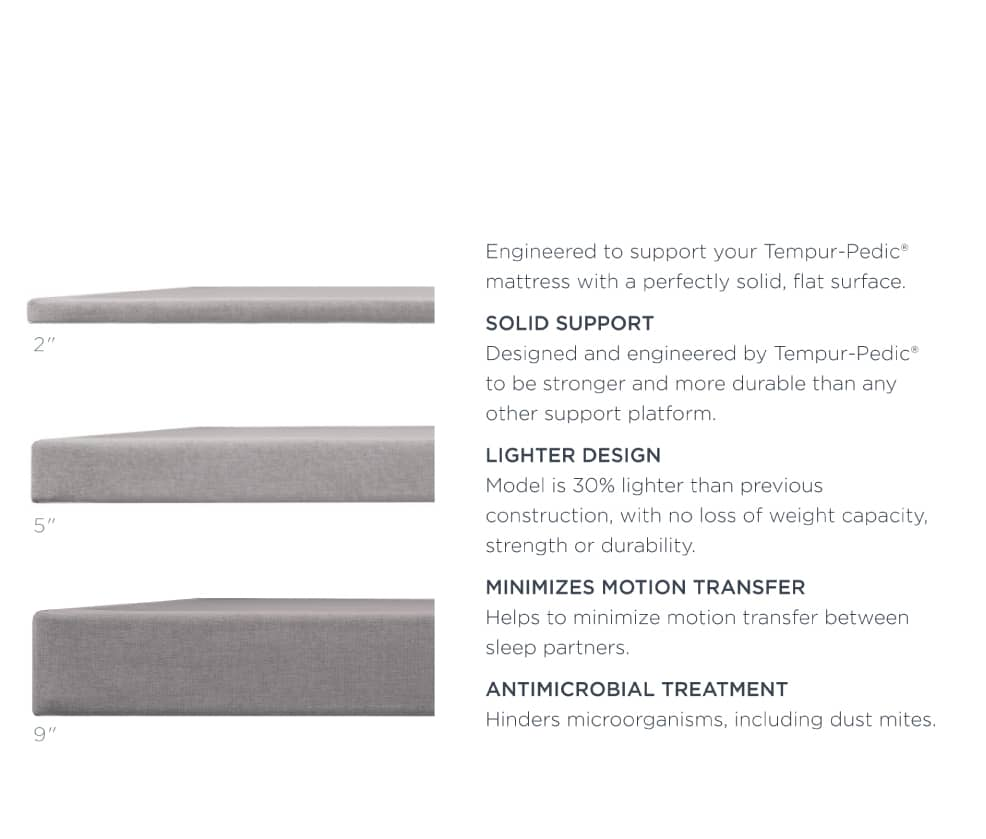TEMPUR-Flat™ Foundation Specs