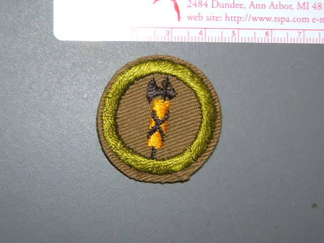 Boy Scout Merit Badge Rowing narrow tan circa /'36-46 2024W