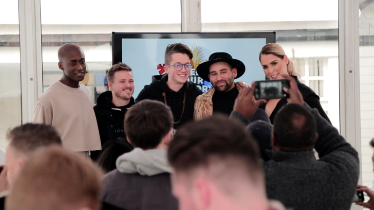 Hello Lounge Group Shot Panel Discussion Vincint Parson James Carmen Carrera Encircle LoveLoud Sundance Turn Up The Love AT&T