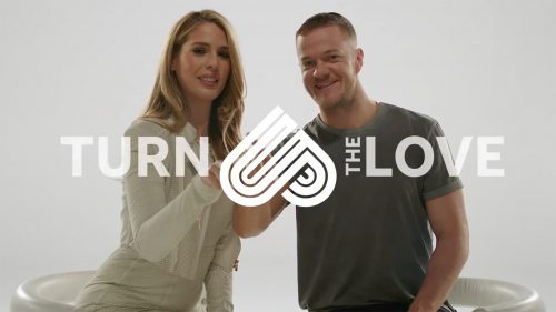 Carmen Carrera and Dan Reynolds with AT&T Turn Up the Love