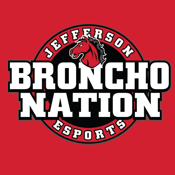 Lafayette Jeff Bronchos Esports's logo