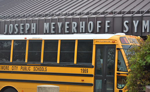 Bus at Meyerhoff