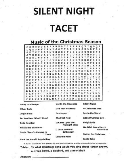 Tacet Sheet