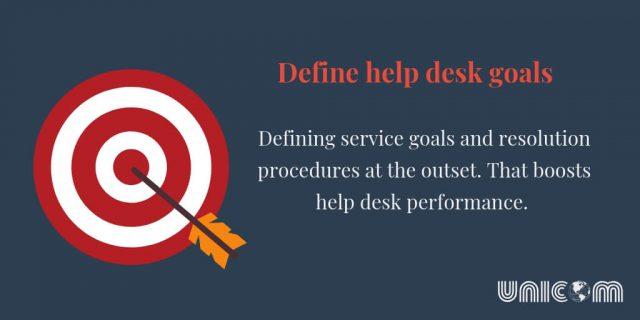 Define help desk goals