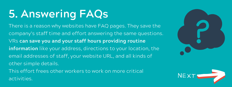Answering FAQs - Virtual Receptionist