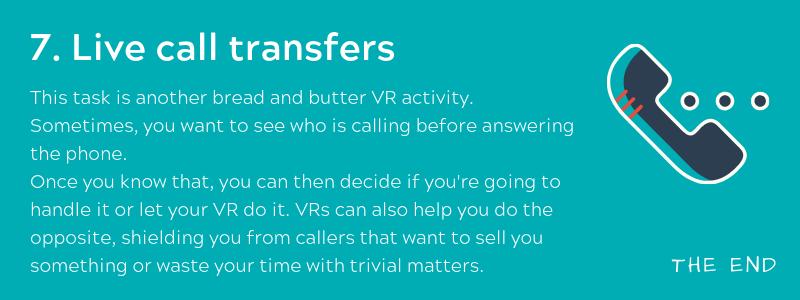 Live call transfers - Virtual Receptionist