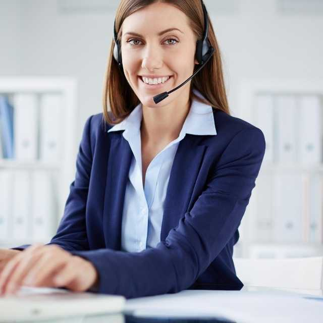 Call Center Agent Answering Call