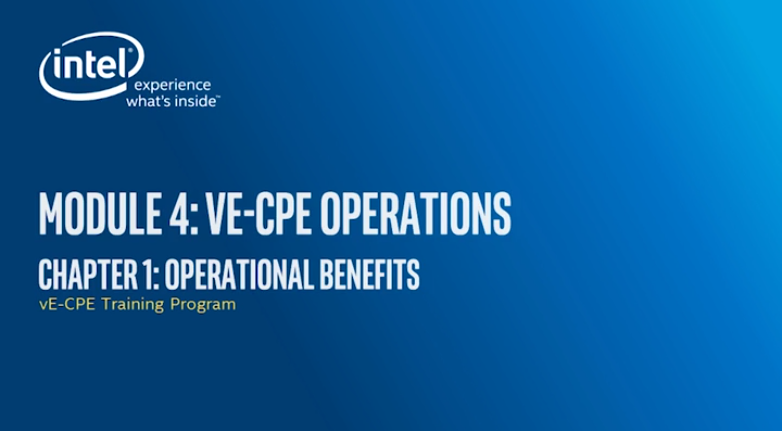 Chapter 1: Operational Benefits