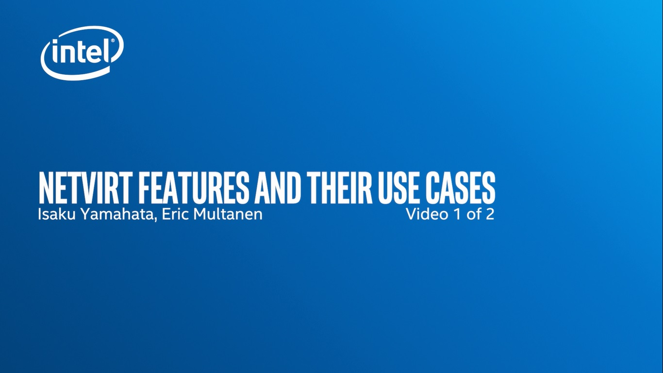 Chapter 1: Netvirt Features and Their Use Cases