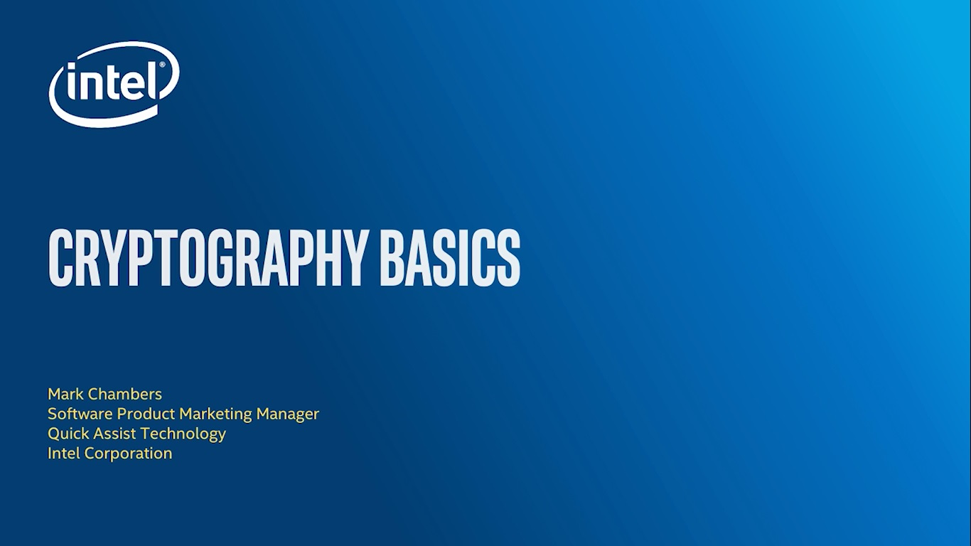 Chapter 1: Cryptography Basics