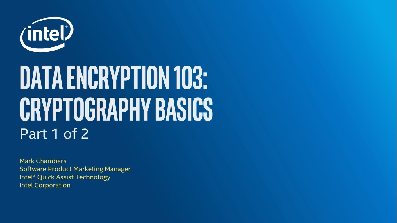 Chapter 1: Data Encryption 103: Cryptography Basics