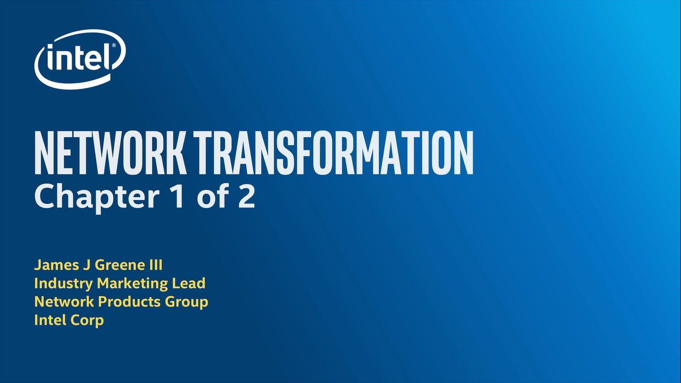 Chapter 1: Network Transformation