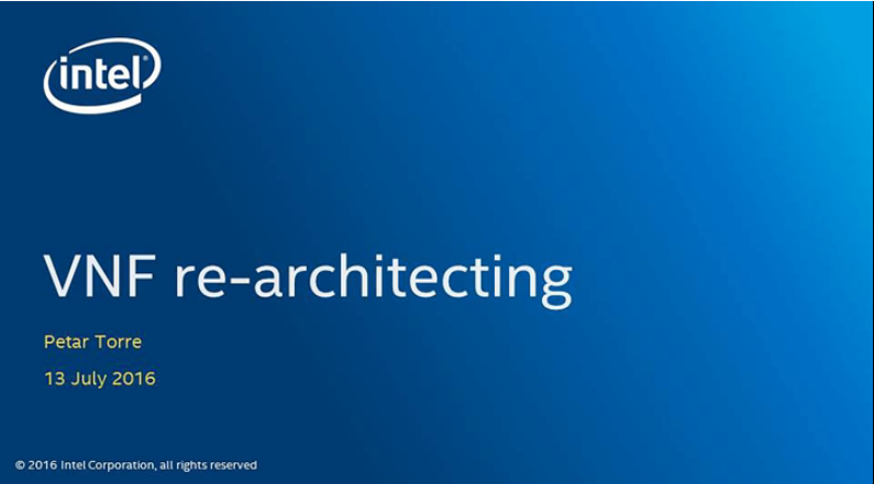 Chapter 1: VNF re-architecting