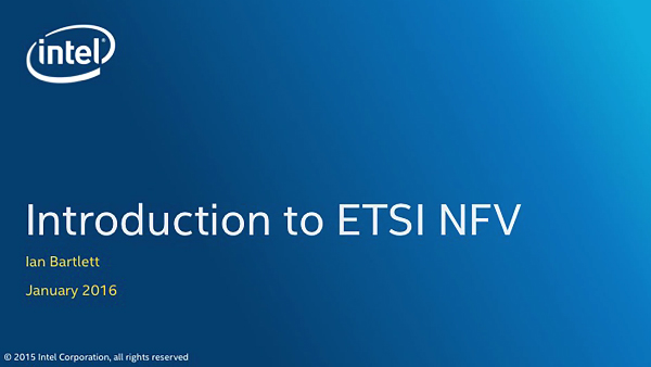 Chapter 1: Introduction to ETSI NFV