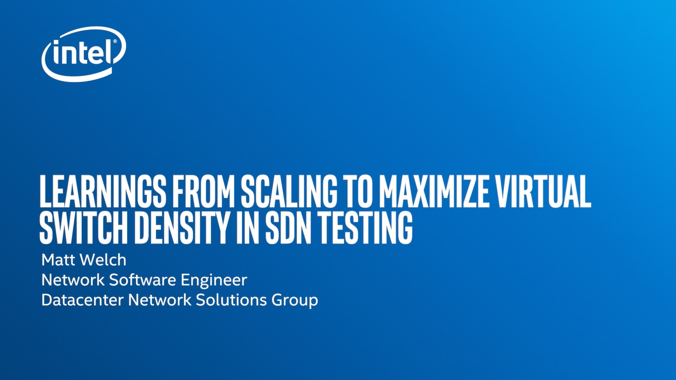 Chapter 1: Learnings from Scaling to Maximize Virtual Switch Density in SDN Testing