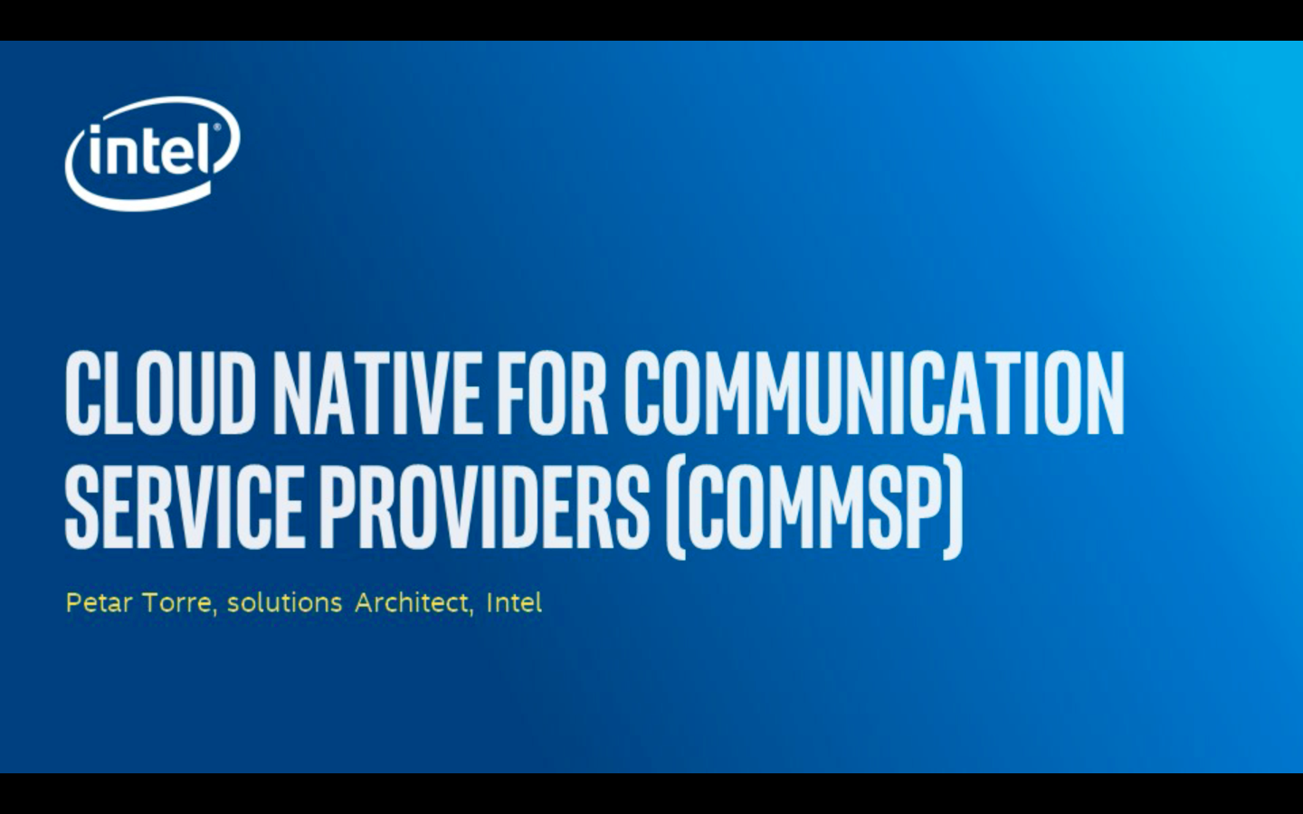 Chapter 1: Cloud Native for Communication Service Providers