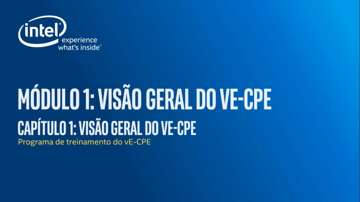 Chapter 1: Visão geral do vE -CPE