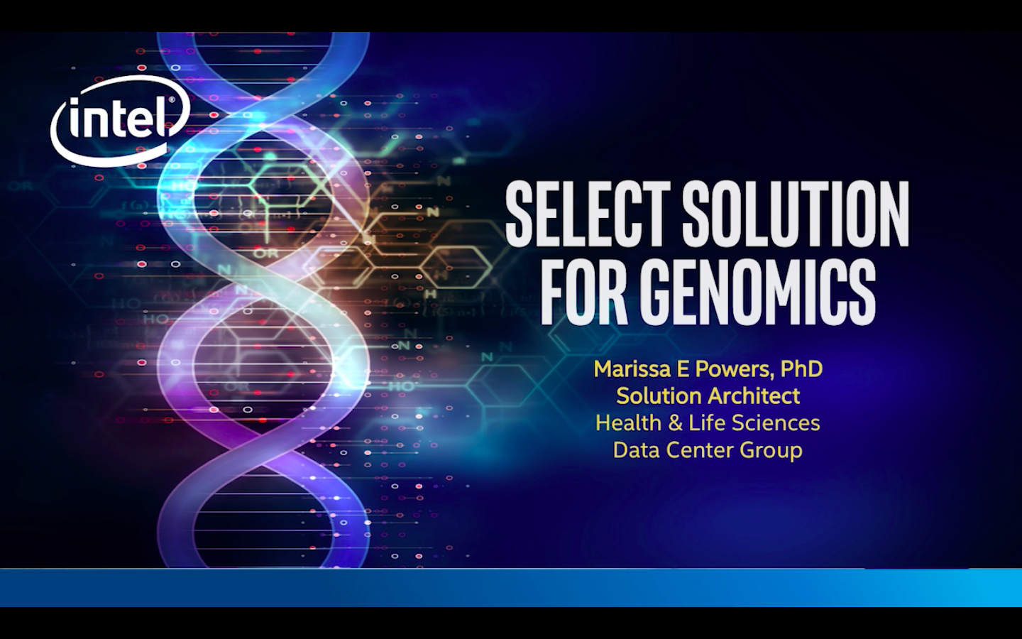 Chapter 1: Intel® Select Solutions for Genomics Analytics
