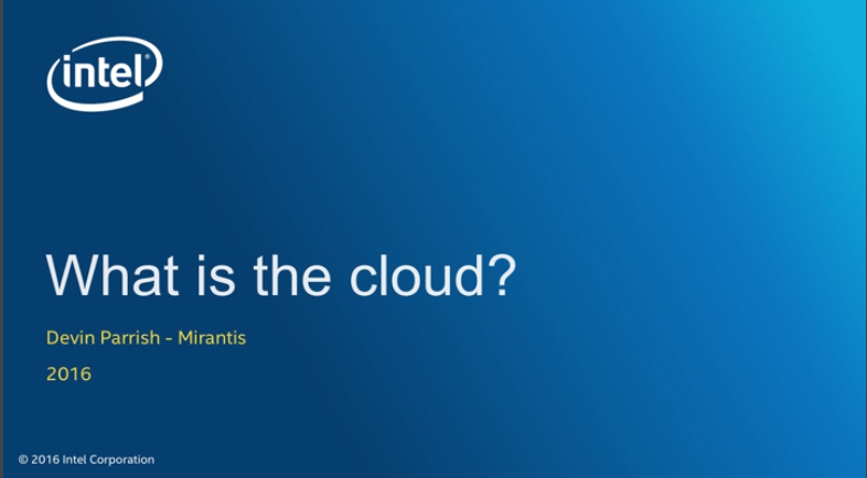 Chapter 1: What is the Cloud?
