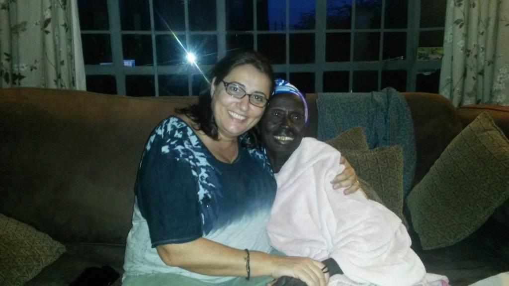 Suzy with Mama Sabet