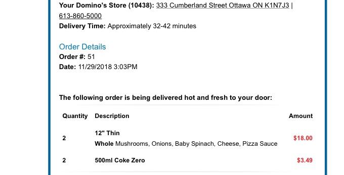 Dominos Pizza 8962 Burke Lake Rd Springfield Va 22151 Usa Got