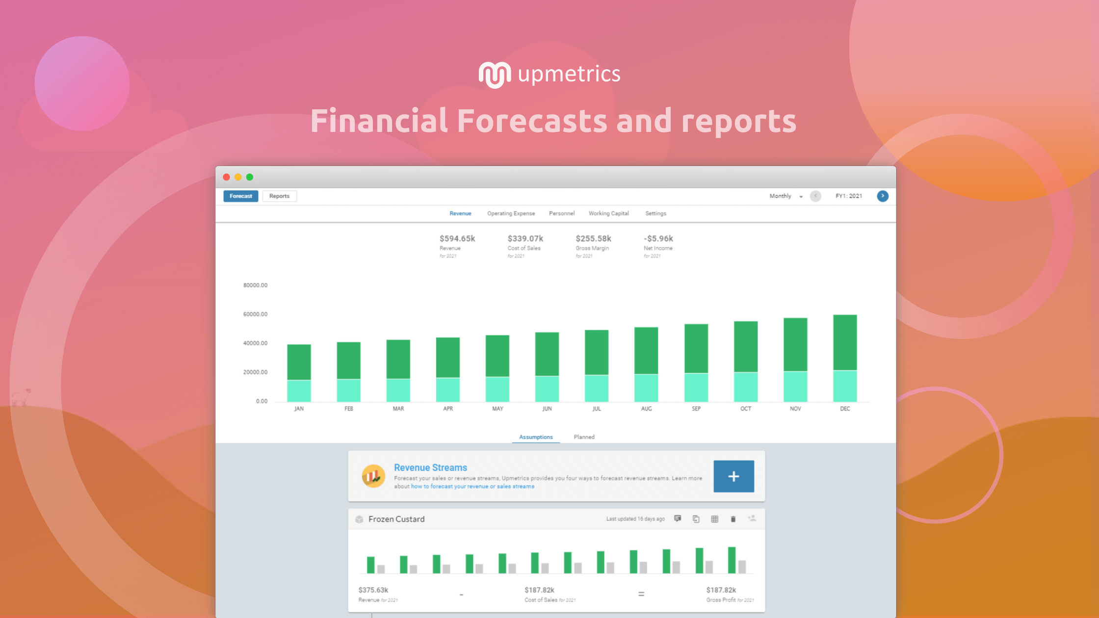 Upmetrics Financial Forecast